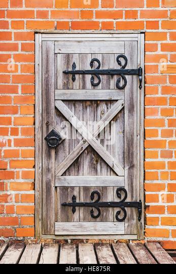 Old Wooden Castle Entrance Door Stock Photos & Old Wooden Castle ...