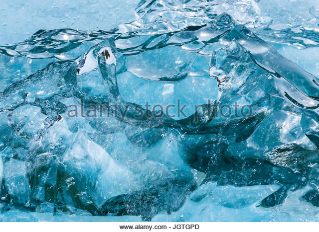 Aerial view of Alaska's glacial coast. - Stock Image