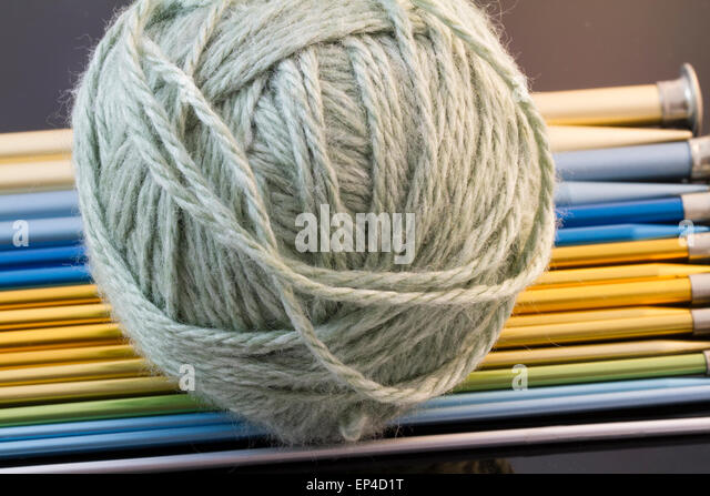 Knitting Needles And Yarn Size : Work with needles stock photos