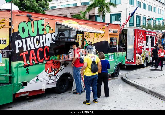 Miami Florida Book Fair International Dade College Wolfson Campus Literary Festival Annual Event Food Truck