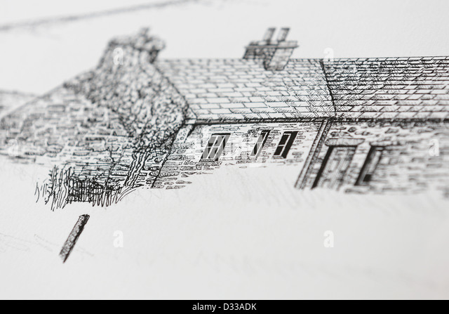 Drawing Cottage Stock Photos Drawing Cottage Stock Images