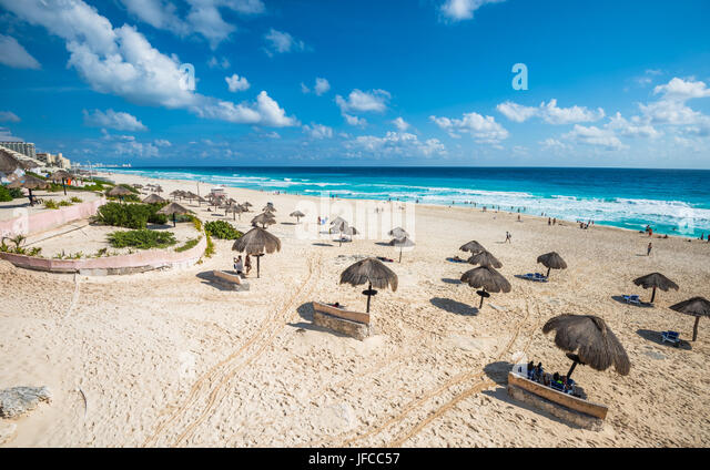 Cancun beach panorama, Mexico - Stock Image