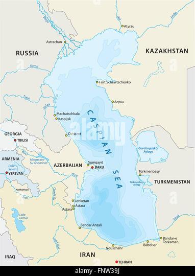 Caspian Sea Map Stock Photos Caspian Sea Map Stock Images Alamy - Caspian sea world map