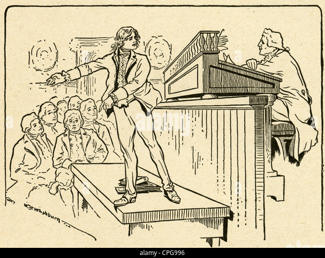 circa 1900s engraving young martin van buren wins his first case before judge and jury