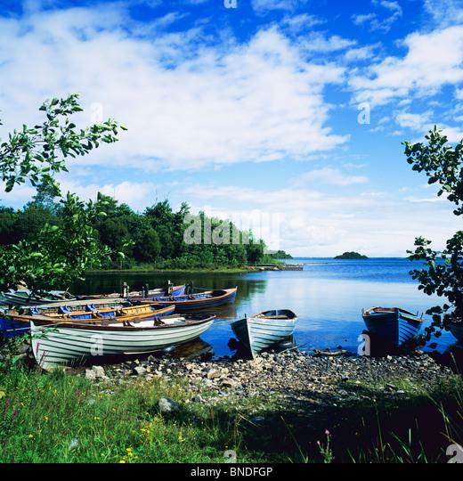 Boats On Lough Corrib Stock Photos Boats On Lough Corrib