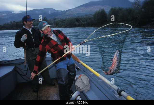 Salmon fishing river washington stock photos salmon for Salmon fishing washington rivers