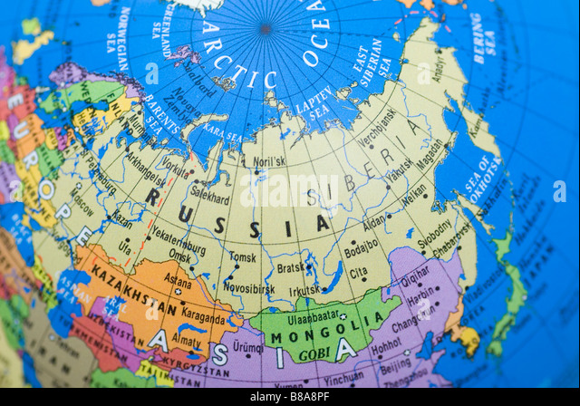 Map Of Russia Stock Photos Map Of Russia Stock Images Alamy - Map of russia