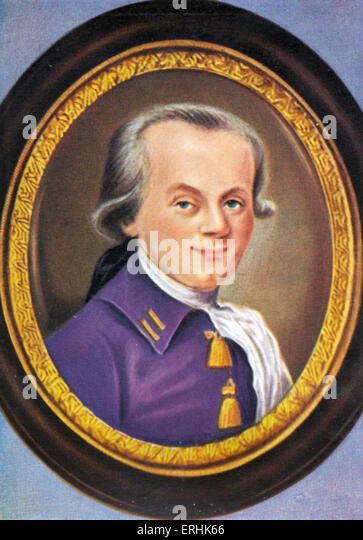 Maximilien Marie Isidore de Robespierre. Portrait. One of the leaders of  the French Revolution