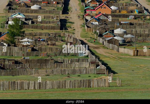 Mongolia, Central Asia, Karakorum / Qara Qorum, view of Genghis Khan Monument - Stock Image