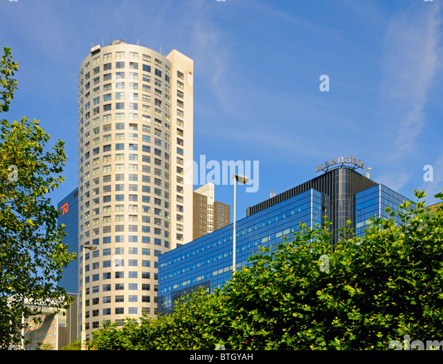 Rotterdam, Netherlands. Modern Office Buildings   Stock Image