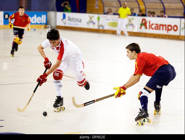England v Spain U17 European Roller Hockey Championship, Madrid 2013 ...