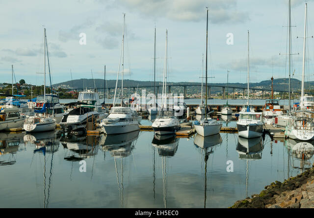 Lindisfarne Australia  City pictures : Marina at Lindisfarne, Hobart, Tasmania, Australia Stock Image