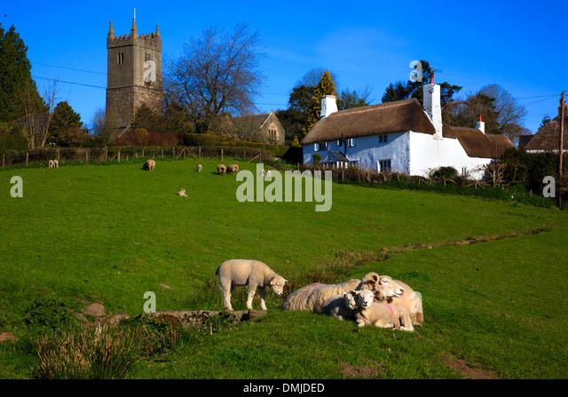North Bovey Village Dartmoor National Park Devon UK