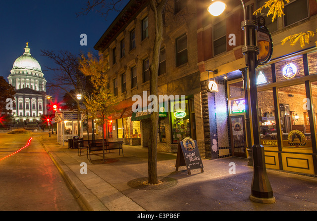 Madison Wisconsin State Street Stock Photos Madison Wisconsin State Str