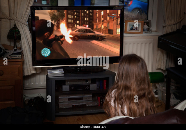 Girl play in gta and ridding toy 6