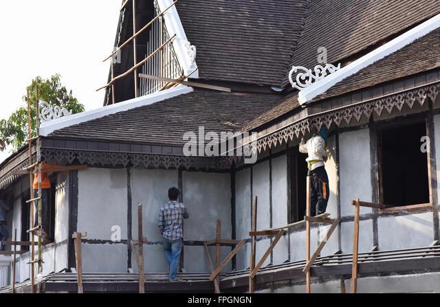 Traditional Construction construction traditional laotian house luang stock photos