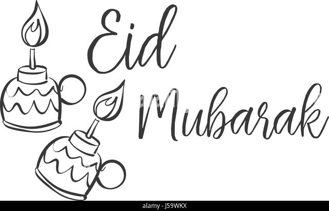 Ramadan greeting card black and white stock photos images page 2 hand draw style eid mubarak greeting card vector stock image m4hsunfo