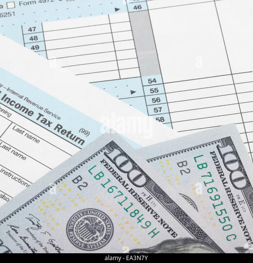 Tax form 1040 stock photos tax form 1040 stock images for 1040 line 28 tax table