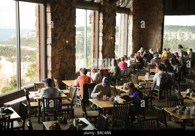 Tourists In The Dining Room Looking Out At The Grand Canyon, Grand Canyon  Lodge, Part 13