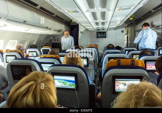 Inside Lufthansa Airplane Stock Photos Amp Inside Lufthansa