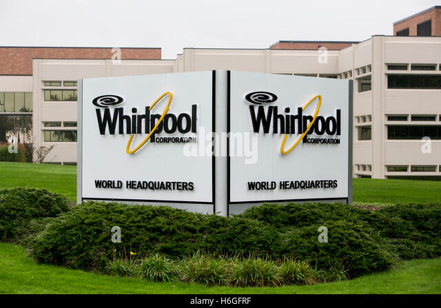 A Logo Sign Outside Of The Headquarters Of The Whirlpool Corporation In  Benton Harbor, Michigan
