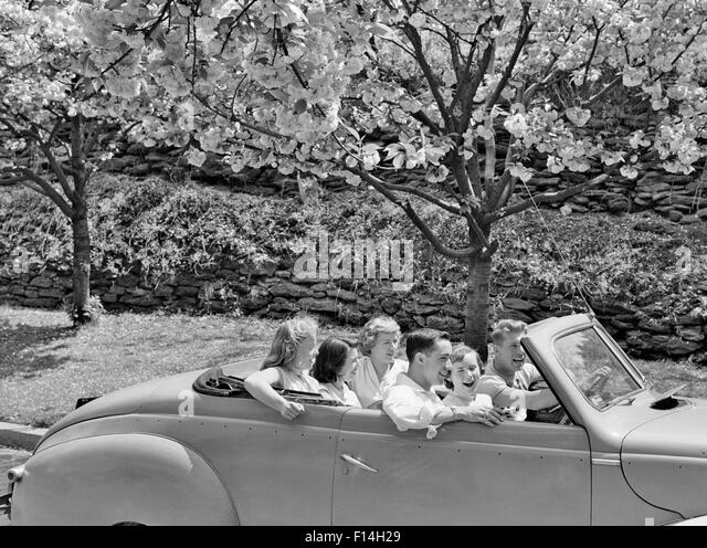 Convertible Car 1950s Stock Photos & Convertible Car 1950s ...1950s Cars For Teenagers