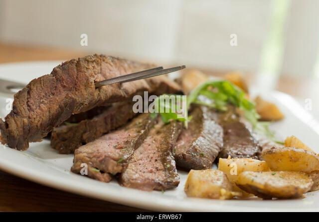 Sliced Steak With Arugula Recipe — Dishmaps
