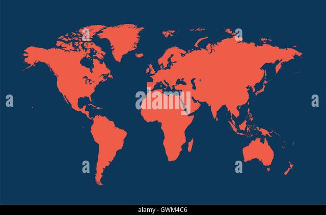 World Map Flat Stock Photos World Map Flat Stock Images Alamy - World map flat