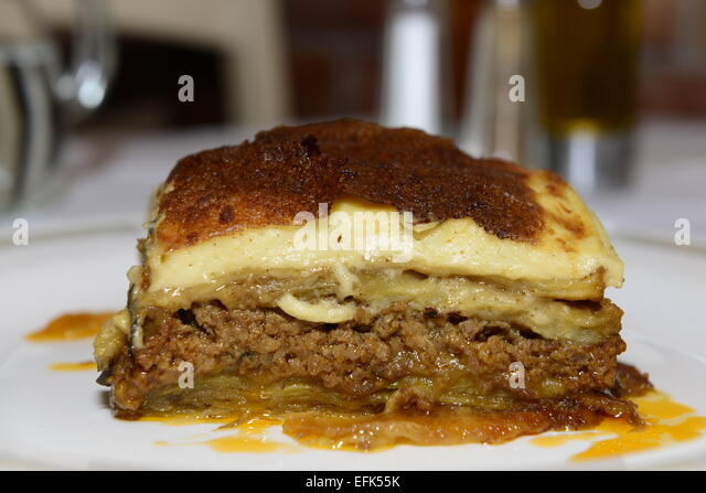 Moussaka Is One Of The Best Known Greek Dishes In The World Stock Image