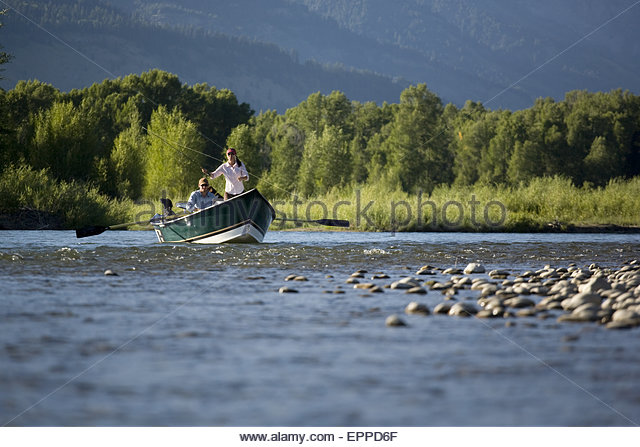 Fly fishing wyoming stock photos fly fishing wyoming for Snake river fly fishing