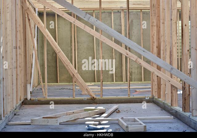 Building construction lumber stock photos building for Construction stages of building a house