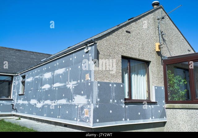 Wall Insulation HEATING BUILDING House Insulation Uk External Wall Thermal  Insulating Exterior Walls Outside   Stock