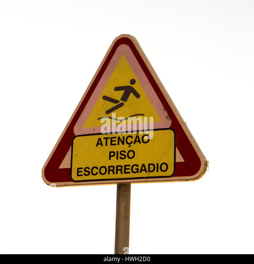 how to say slippery in portuguese