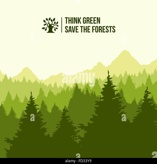 Environmental Concept Earthfriendly Landscapes: Eco Friendly Stock Vector Images