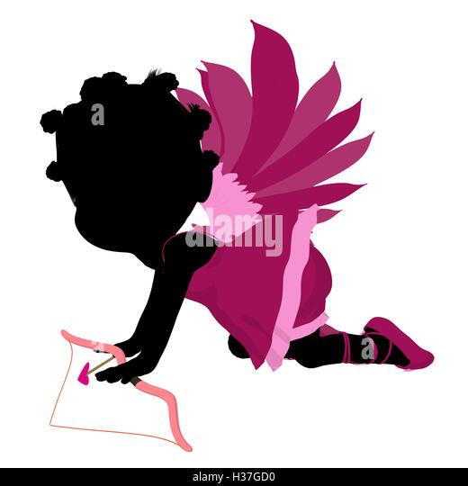 Girl Angel Wings African American Stock Photos Amp Girl