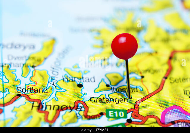 Pinned On Map Norway Stock Photos Pinned On Map Norway Stock - Norway map cartoon