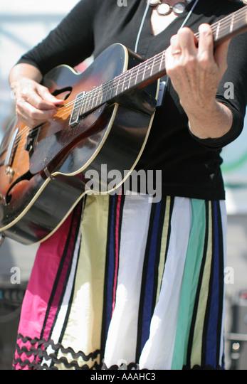 florida zydeco festival cajun music colorful dress guitar stock image