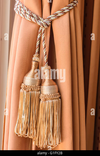 Curtains Tassel For Interior Luxury House   Stock Image