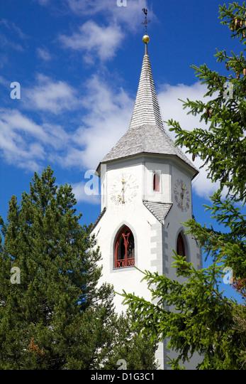 Gothic Church Corvara Badia Valley Bolzano Province Trentino Alto Adige
