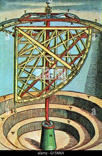 Quadrant astronomy stock photos quadrant astronomy stock for Tycho brahe mural quadrant