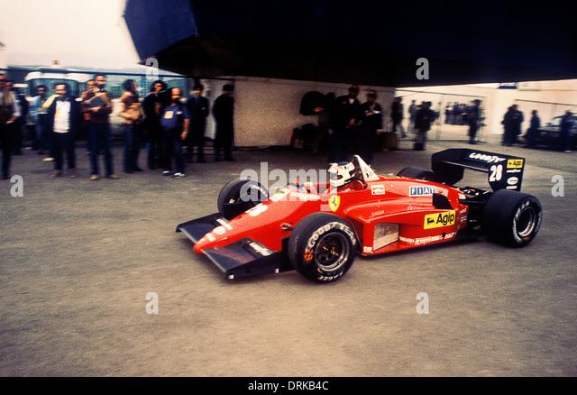 Stefan Johansson Driving Ferrari F1 Car At Portuguese GP 1985   Stock Image