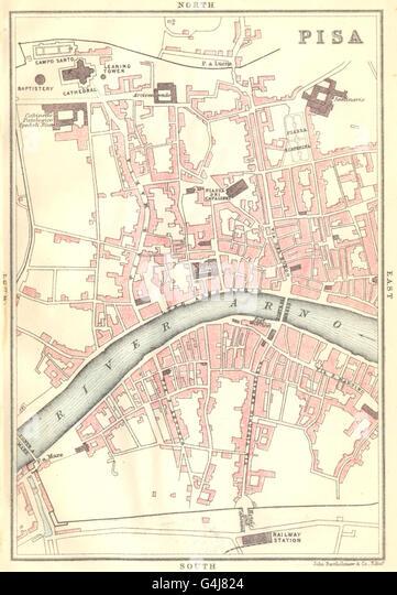 Pisa Map Stock Photos Pisa Map Stock Images Alamy - Pisa bus map