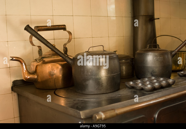Old Country Kitchen With Range Stock Image