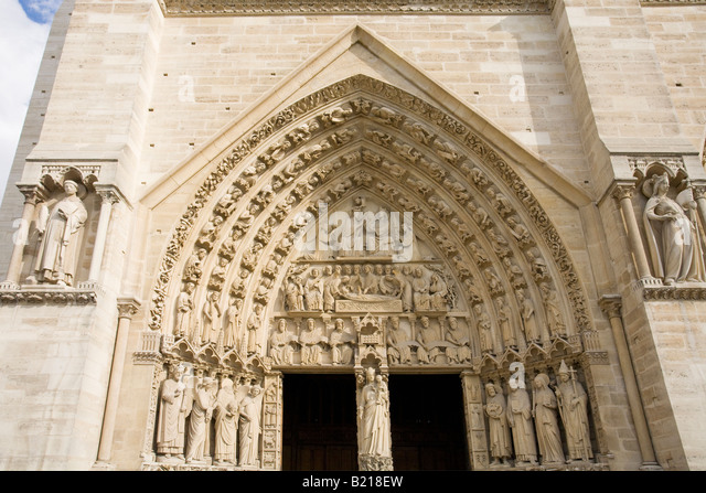 Notre dame cathedral exterior stock photos notre dame for Exterior notre dame