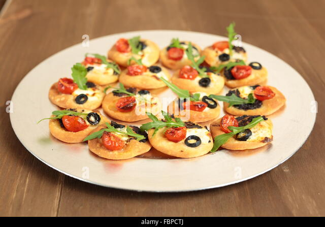 Party food spread stock photos party food spread stock for Canape spread