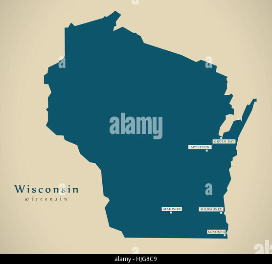 Map Of Wisconsin Stock Photos Map Of Wisconsin Stock Images Alamy - Usa map wisconsin