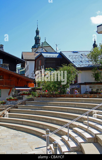 Megeve france alps summer stock photos megeve france - Office du tourisme megeve haute savoie ...