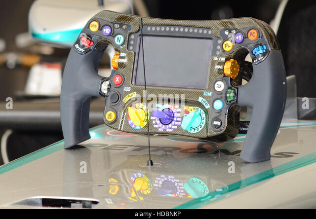 F1 steering wheel stock photos f1 steering wheel stock for Mercedes benz steering wheel control buttons