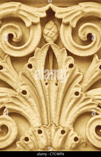 Acanthus Stone Leaf   Stock Image