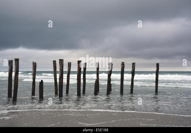 Old Wood Pier Piling Stock Photos Old Wood Pier Piling